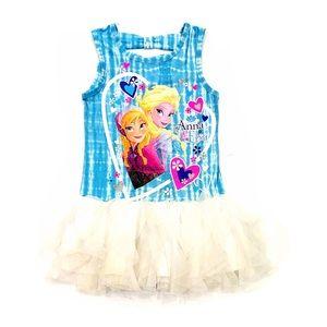 """Disney """"Frozen"""" Summer Sleeveless Dress XS (4-5)"""